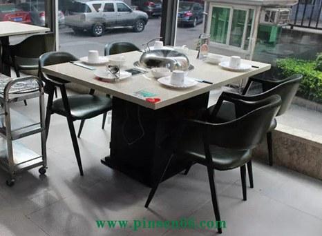 大理石海鲜蒸汽火锅桌