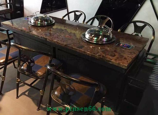 领海海鲜蒸汽火锅桌椅组合