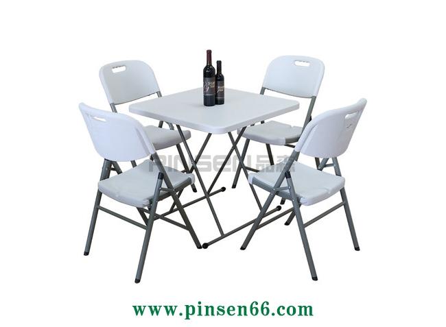 铁艺pp面折叠个性等位餐桌椅