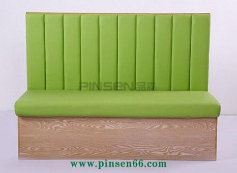 绿色竖纹餐桌椅卡座沙发