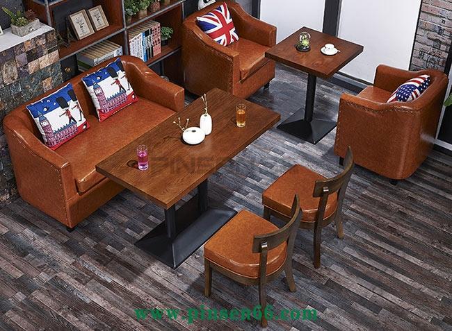 休闲咖啡厅卡座沙发