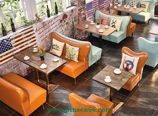 咖啡厅卡座沙发餐桌椅008