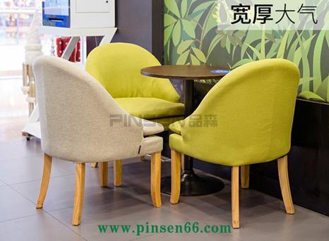 北欧简约实木软包咖啡桌椅-餐饮家具定制厂家