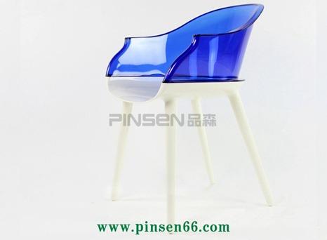 厂家直销扶手椅塞班椅水晶亚克力咖啡厅椅子