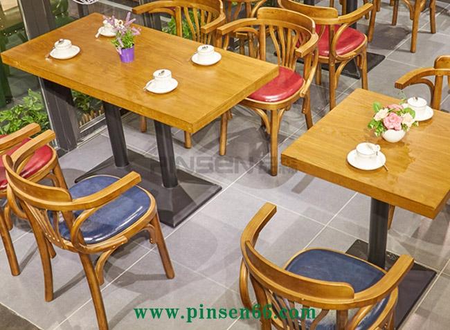 西餐厅 咖啡厅餐桌椅 美式实木茶餐厅桌椅 loft复古西餐厅桌椅