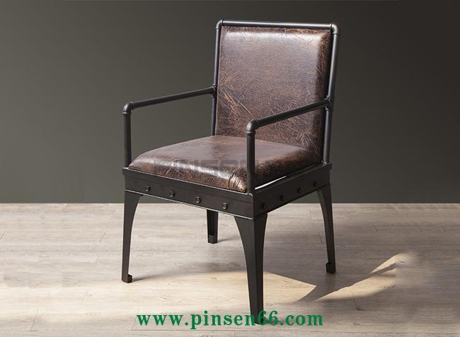 美式工业风铁艺酒吧双人沙发椅咖啡厅餐卡座