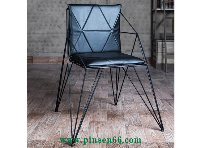 简约现代铁艺镂空椅创意接待椅子办公椅复古l
