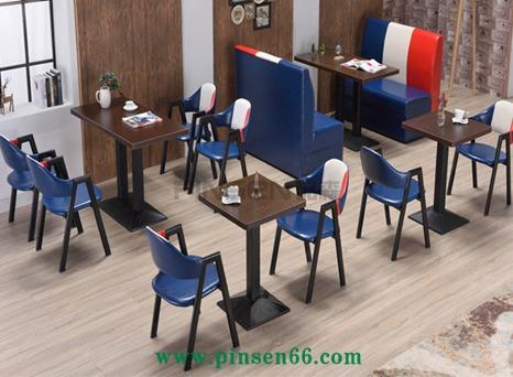 复古A字椅铁艺简约咖啡厅西餐厅桌椅奶茶小吃店
