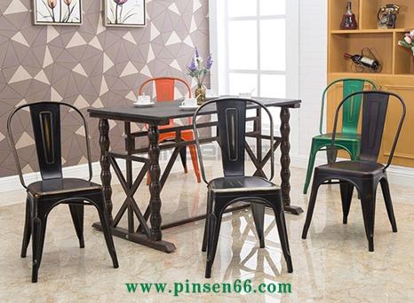 复古铁艺凳子餐椅铁皮椅简约休闲椅酒吧椅咖啡