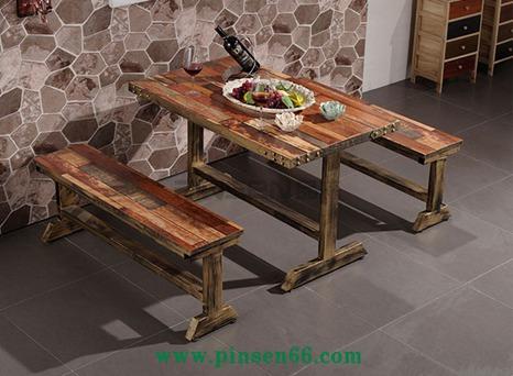 铁艺餐桌椅loft主题餐厅快餐桌椅西餐厅咖啡厅餐