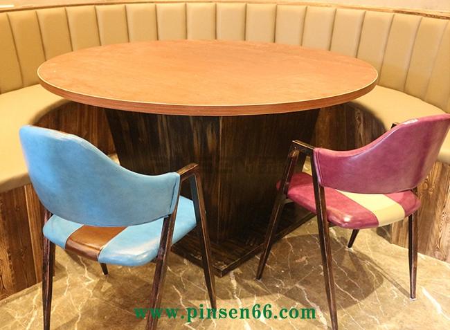 咖啡厅桌椅主题西餐厅茶馆实木餐椅