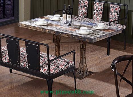 主题餐厅餐桌椅组合