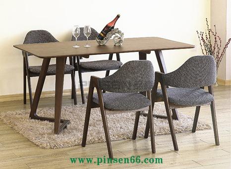 美式复古LOFT实木西餐厅桌椅