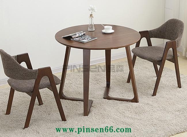 美式复古LOFT实木西餐厅餐桌椅