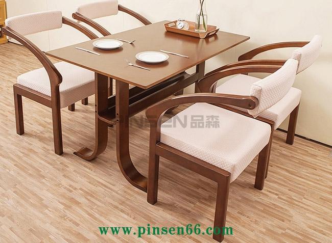 西餐厅实木餐桌椅