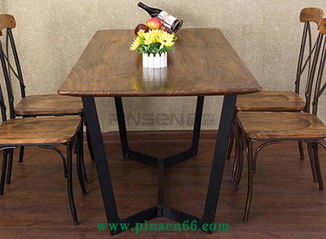 复古实木西餐厅餐桌椅