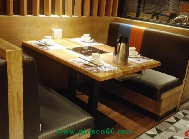 主题餐厅水曲柳实木火锅店桌椅