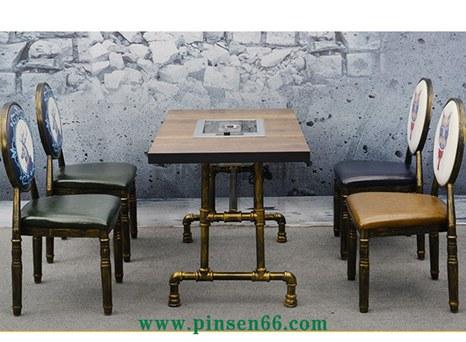 个性烧烤餐桌椅 复古工业风火锅店餐桌