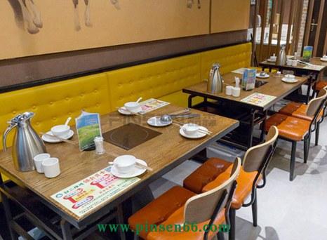 实木火锅店餐桌椅