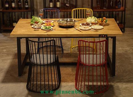 复古工业风烧烤火锅桌椅主题餐厅火锅桌椅组合