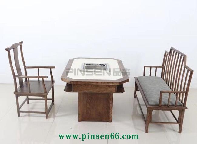 青花瓷无烟火锅桌