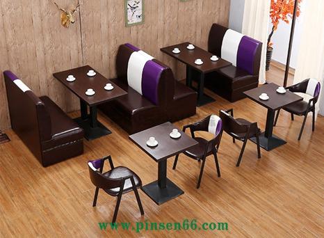 咖啡厅沙发西餐厅奶茶甜品店咖啡店休闲双人沙