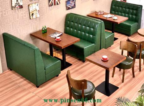 美式复古咖啡厅西餐厅奶茶店甜品店卡座沙发主