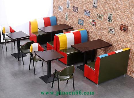 现代简约咖啡厅桌椅奶茶店甜品店西餐厅卡座沙