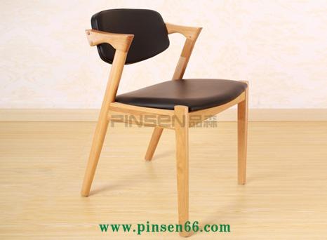 Z型实木椅个性主题餐厅餐桌椅休闲西餐餐桌椅