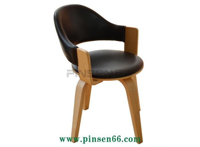 西餐厅软包曲木餐桌椅