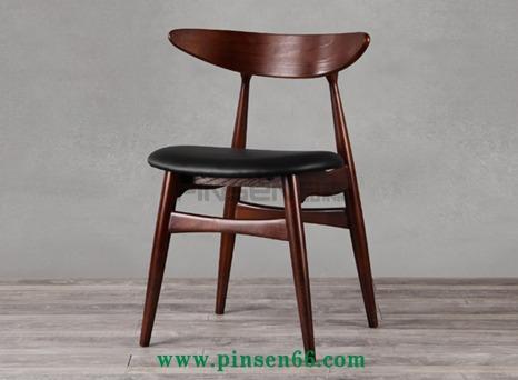 美式乡村实木餐椅复古北欧火锅椅
