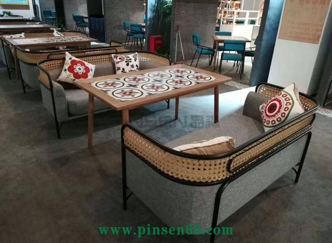 中式田园实木餐桌主题餐厅桌椅