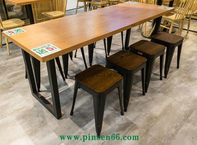 实木餐桌椅卡座组合