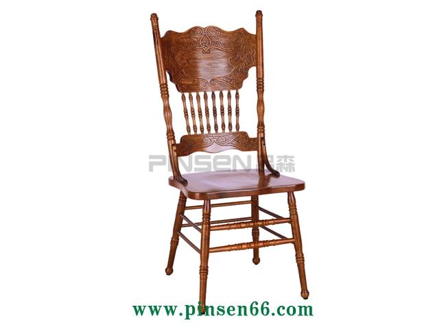 北欧橡木全实木主题餐厅西餐厅餐桌椅