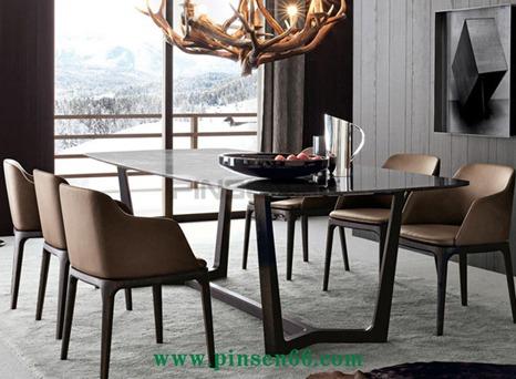 欢乐颂同款椅子北欧实木餐桌椅简约时尚主题餐厅餐桌椅