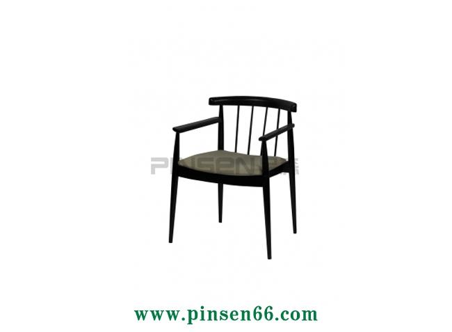 实木软包格栅主题餐厅餐桌椅