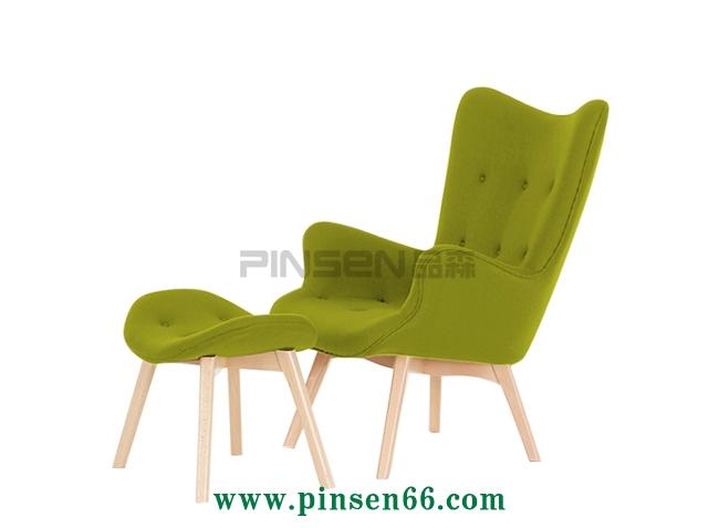 橡木框架实木沙发单人沙发椅 酒店宴会高档沙发厂家定做