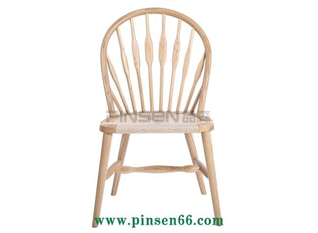 北欧实木餐桌椅火锅餐桌椅简约时尚靠背椅藤椅